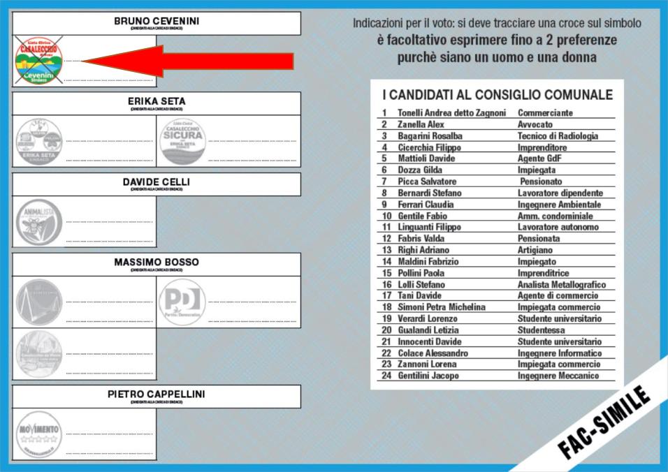 VOTO 2019 AMMINISTRATIVE CASALECCHIO VOTA CEVENINI SINDACO